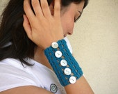 Teal Blue Wristband by Afra