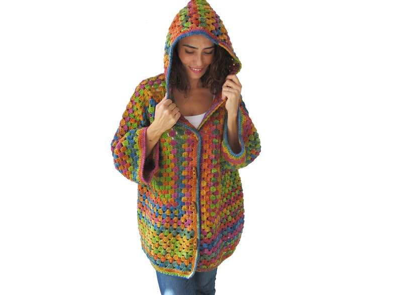 dc99b87ad2a6d0 Crochet Cardigan Crochet Jumper Vintage Cardigan Crochet
