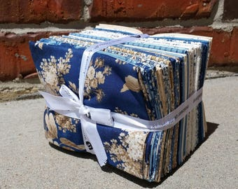 dd0b450623 Blue Sky - Fat Quarter Fabric Bundle - Andover Fabric - Edyta Sitar Laundry  Basket Quilts Fabric Collection - 1 4 Yard Bundle of 28 Fabrics