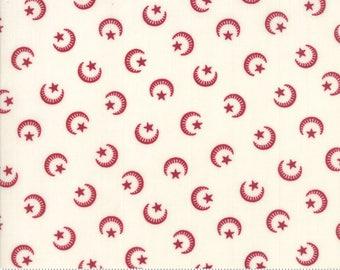 Liberty Gatherings Dark Red 1200 11  Moda  Fabric 1//2 Yard Stars Moons