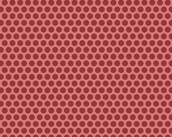 Anna Fabric Andover Freckles Raspberry White Tiny Dots on Red Shirting Fabric Edyta Sitar Laundry Basket Quilts A-9359-R Half Yard