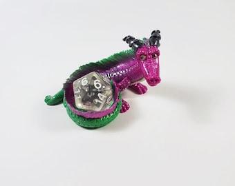 Green and Purple Dice dragon