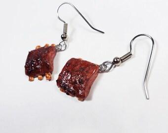 BBQ Rib Earrings