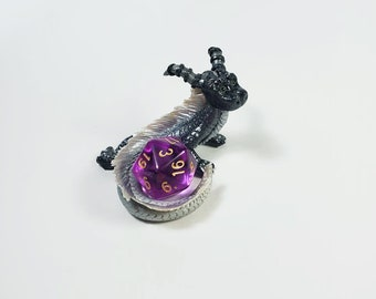 Black and silver Dice dragon