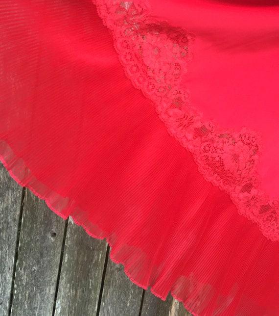 Vintage Slip, Red Chemise, Vintage Red Slip, Lacy… - image 5