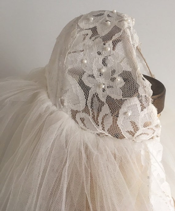 Vintage Wedding Veil, Juliet Cap Veil, Vintage Wed