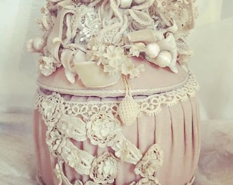 Velvet Jewelry Box, Engagement Ring Box, Presentation Box, Vintage Box, Pink Velvet Box, Dressing Table, Vanity, Proposal Box, Boudoir Decor
