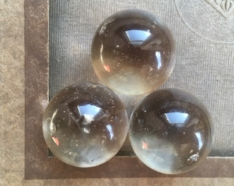 Clear Marbles, Vintage Marbles, Marble Trio, Three Clear Balls, Glass Spheres, Clear Glass, Collectible Gifts, Marble Collection, Collector