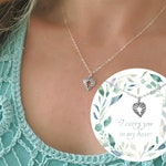 Infant Loss Necklace, Miscarriage Gift, Angel Wing Necklace, Miscarriage Necklace, Condolence Gift, Pregnancy Loss, Miscarriage Gift, W04
