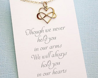 Miscarriage Necklace | Infinity Heart Necklace, Bereavement Gift, Condolence Gifts, Miscarry Gift, Sympathy Gift, Miscarriage Gift | R04