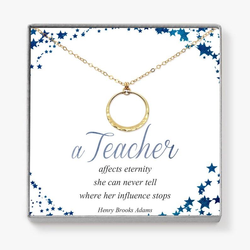Math Teacher Gift Teacher Appreciation Gift Gold Circle image 0