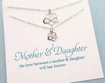 Gifts for Mom   Infinity Necklace Set, Mother Daughter Jewelry Set, Mommy and Me, Mother Daughter Gift Set, Mothers Day, Mom Gift   MD01