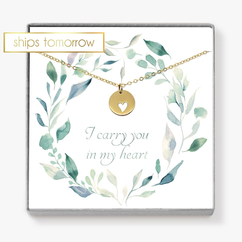 Miscarriage Necklace Heart Necklace Bereavement Gift image 0
