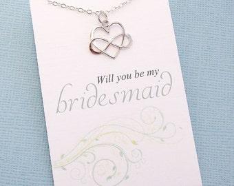 Bridesmaid Proposal | Bridesmaid Necklace, Be My Bridesmaid Gift, Maid of Honor Gift, Bridal Party Gifts, Bridesmaids Gifts  | B05