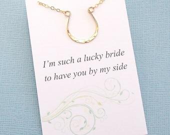 Bridesmaid Gift   Bridesmaid Proposal, Horse Necklace, Boho Rustic Wedding Jewelry, Bridesmaid Necklace, Maid of Honor Gifts, Bridal   B03