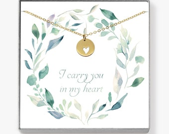 Miscarriage Necklace, Heart Necklace, Bereavement Gift, Condolence Gift, Infant Loss, Sympathy Gift, Miscarriage Gift, Miscarry Gift / N002