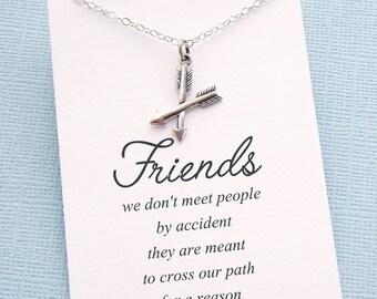Friendship Necklace   Arrow Necklace, Friends Friendship Gift, Best Friend Gift, Best Friend Necklace, Best Friend Birthday Gift   F01