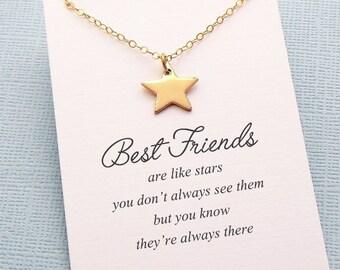 Best Friend Gift   Star Necklace, Friendship Necklace, Best Friend Necklace, Friends Friendship Gift, Best Friend Birthday Gift, Sister  F08