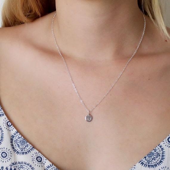 Friendship Necklace Personalized Celestial Jewelry Silver Leo Zodiac Necklace Best Friend Birthday Gift Zodiac Jewelry