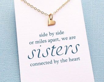 Big Sister Gift | Tiny Heart Necklace, Gifts for Sister, Gift for Sister, Sister Birthday Gift, Best Friend Gift, Friendship Necklace  | S04