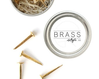 Designer Nails / The Mineral Collection 10 BRASS nails DN04