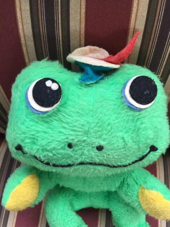 Vintage Dardanelle Frog Pillow Pets Plush 1960s Stuffed Animal Etsy