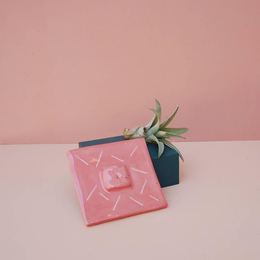 Hot Pink Incense Holder / Modern Home Decor / Modern Incense