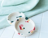 Ceramic Ashtray / Terrazzo Style Tray / Modern Accessories Tray
