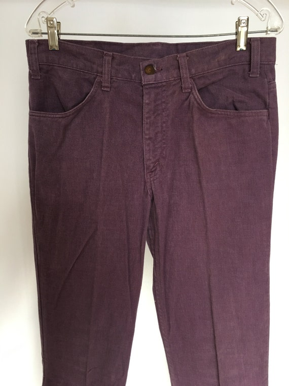 Big E Levi's Purple Denim 1970s Jeans Flare Bell B