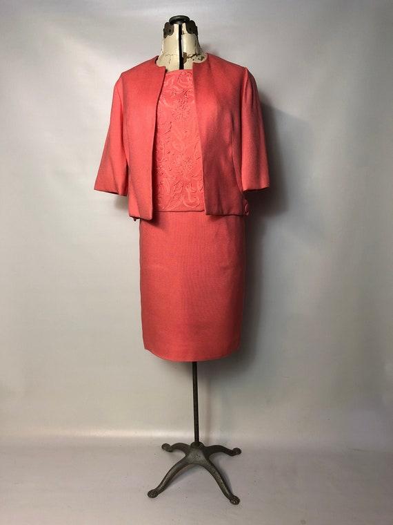 1960s Graff Coral Three Piece Skirt Set
