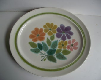 Franciscan Earthenware Oval Platter Floral Pattern Cream with Watercolor Floral