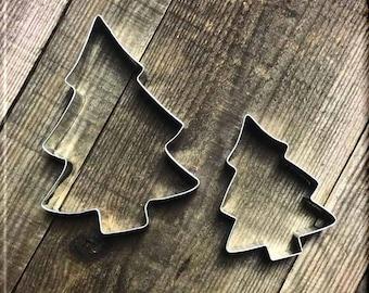 Set of 2 Tree Metal Cookie Cutters #NAWK75