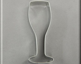 """5.25"""" Champagne Glass Metal Cookie Cutter #NA8181"""