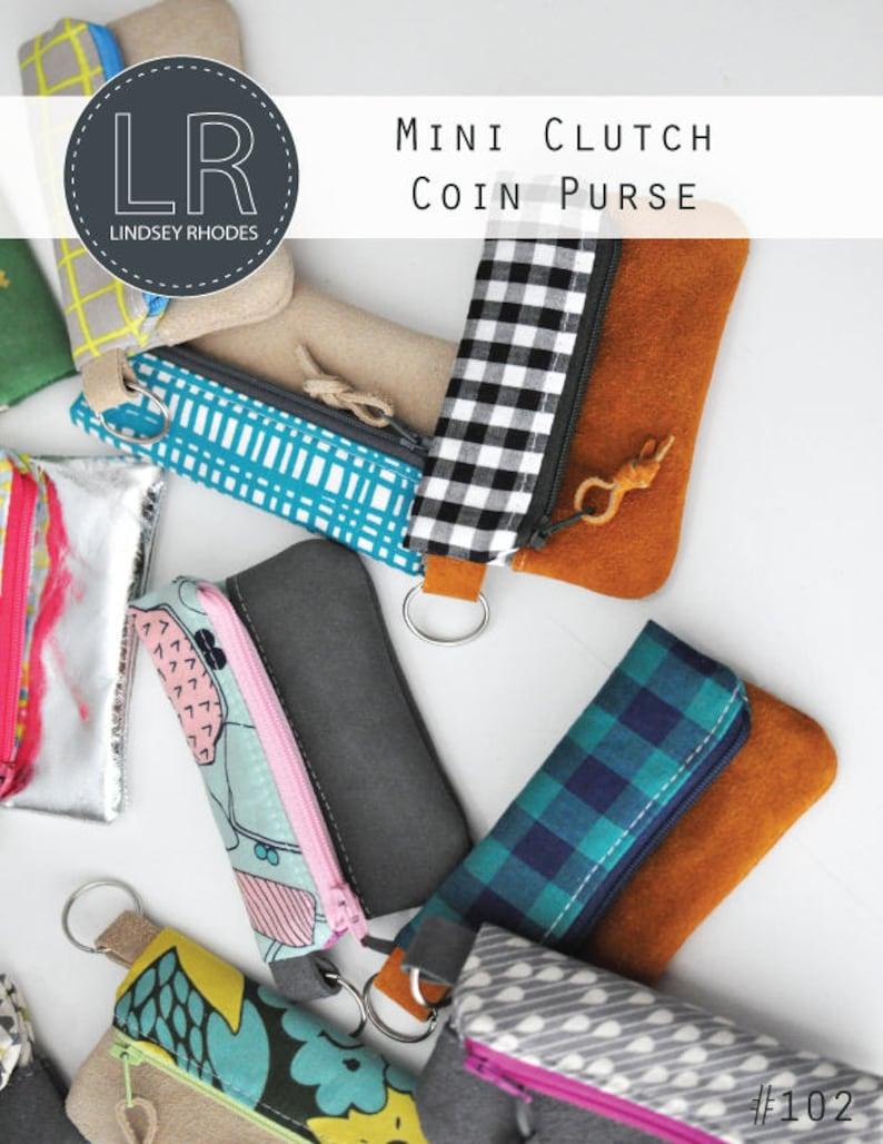Mini Clutch Coin Purse PDF Sewing Pattern / Coin Purse Pattern image 0