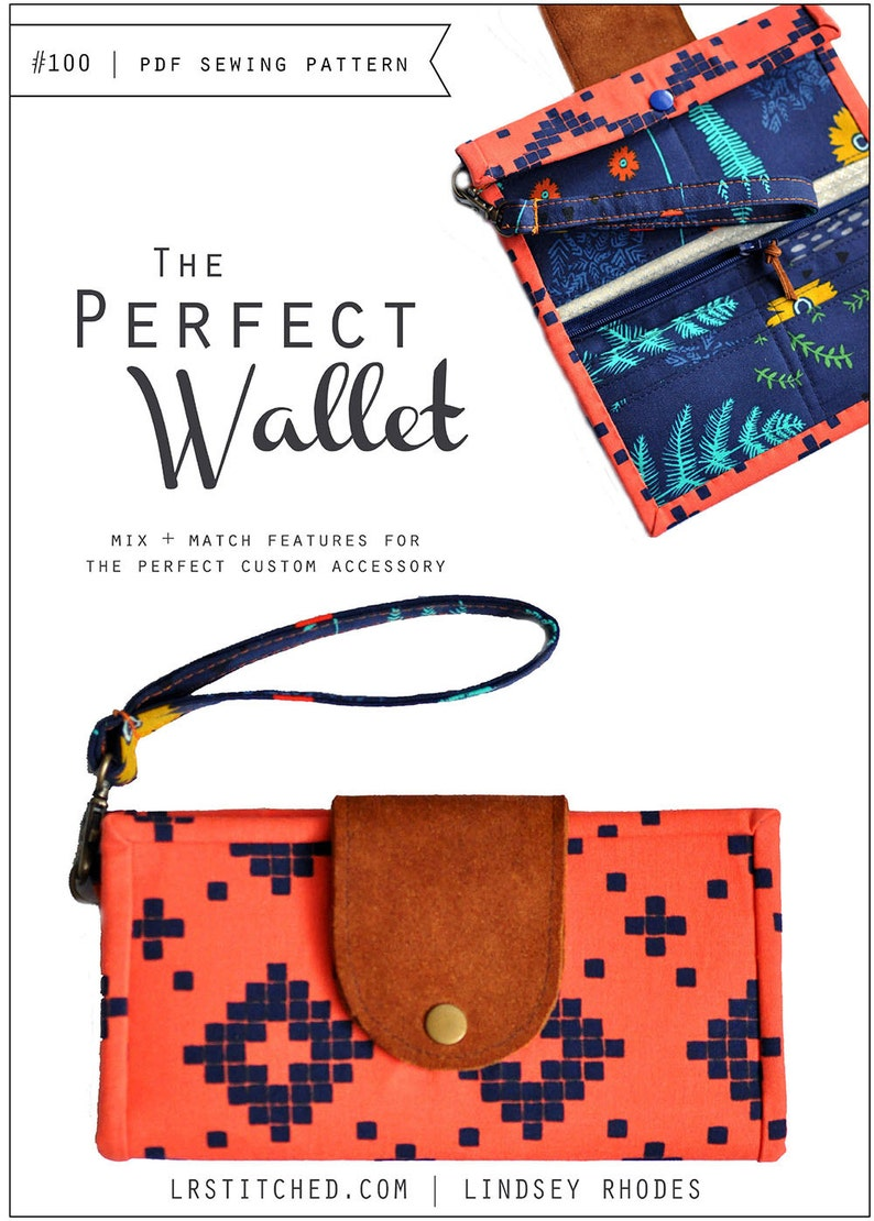 PDF Sewing Pattern / The Perfect Wallet image 0