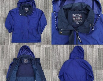 Vintage 1990s 90s Pacific Trail Navy Blue   White Jacket Womens Size Petite  M Medium 6f14e7f9d