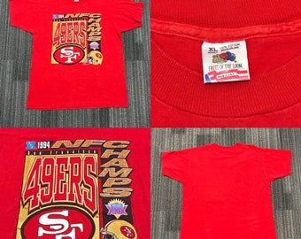 901901e58 Vintage 1990s 90s 1994 Nfc Champs San Francisco 49ers Forty Niners Super  Bowl xxix NFL Shirt Made in USA Mens Size XL