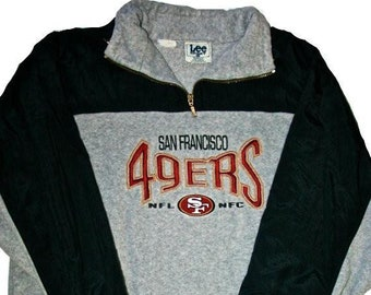 Vintage 1990s 90s Lee Sport San Francisco 49ers Forty Niners Fleece Jacket  Mens Sportswear Size L Large b5f0761ce