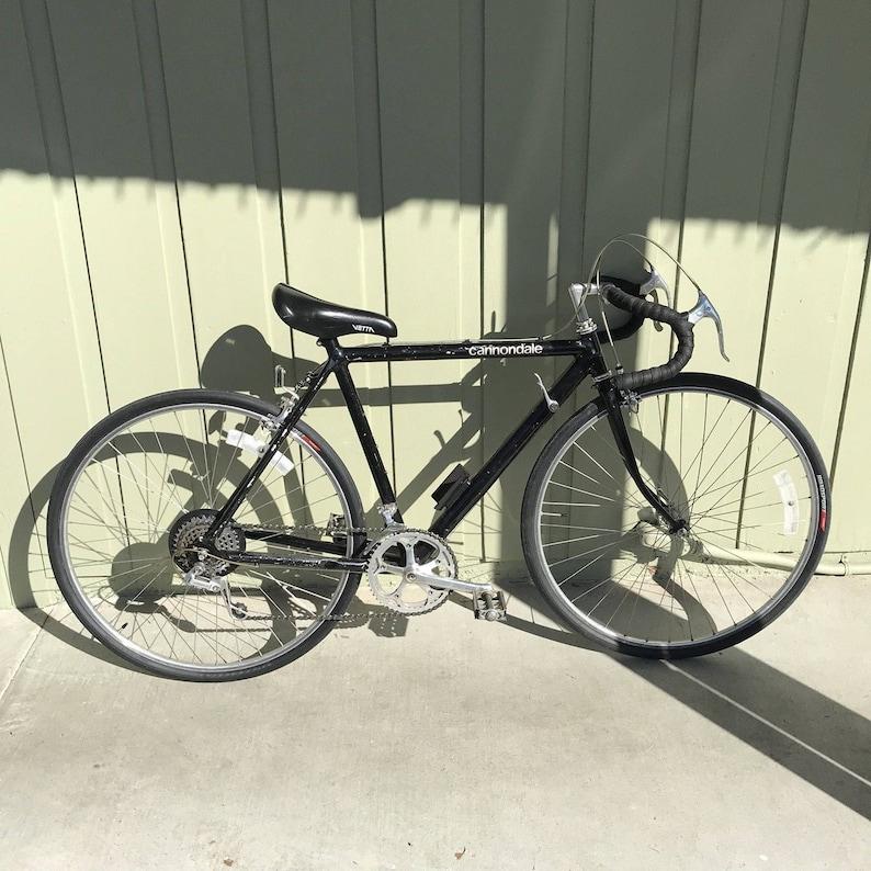 00025733a05 Vintage Cannondale 21 Black Road Bike Bicycle Shimano 600   Etsy