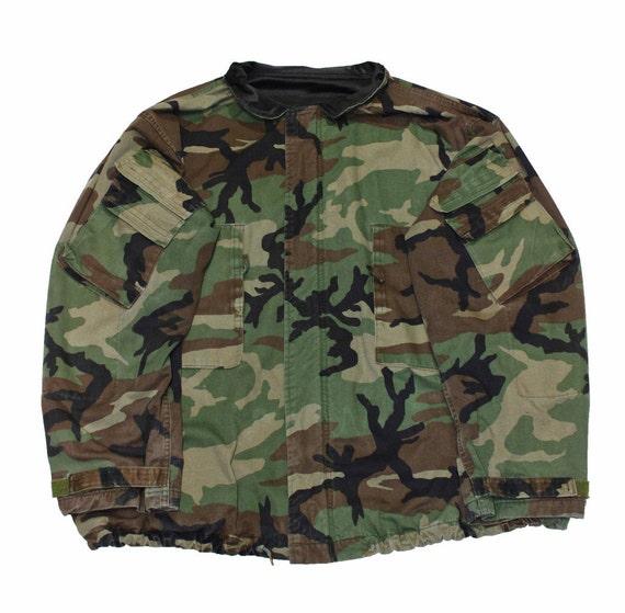 vintage milit rische frage camouflage jacke herren workwear etsy. Black Bedroom Furniture Sets. Home Design Ideas