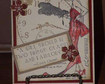 Downton Abbey Style- Lady Mary Handcrafted Greeting Card Kit-set of 4