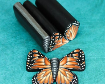 Set of 3 Polymer Clay Canes: Monarch Butterfly Wings and Body (24bb)