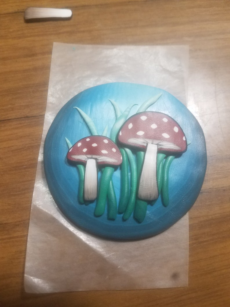 Example project shown Large Polymer Clay Red Mushroom Cane Kit not included 4dd