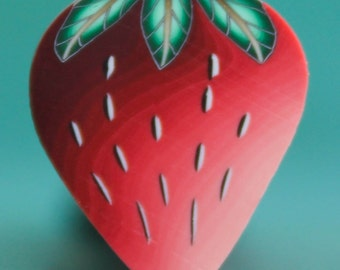 Polymer Clay Strawberry Cane -'Grand Adventure' (7aa)
