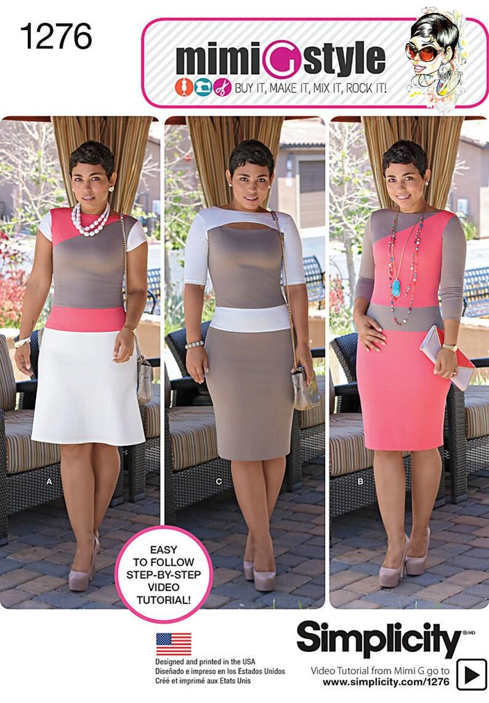 Simplicity Pattern 1276 Misses'/Miss Petite Knit Dress image 0