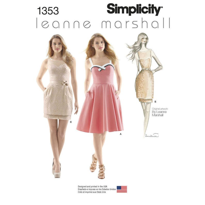 Simplicity Pattern 1353  Misses' Dresses with Skirt image 0