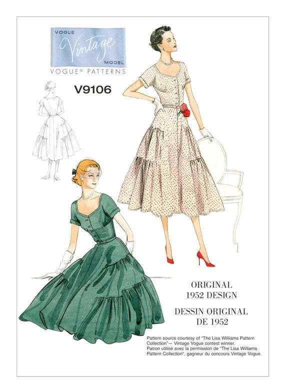 Vintage Retro 40's V40VP40 Vogue Pattern Misses' Etsy Awesome Vintage Vogue Patterns