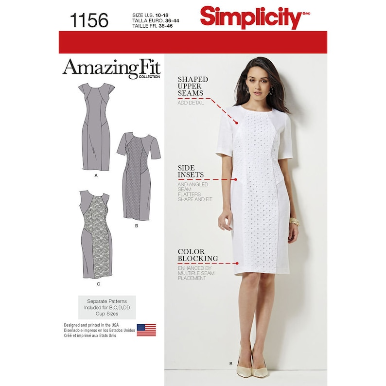 02928cf4b8e8 Simplicity Pattern 1156 Misses and Misses Plus Amazing Fit