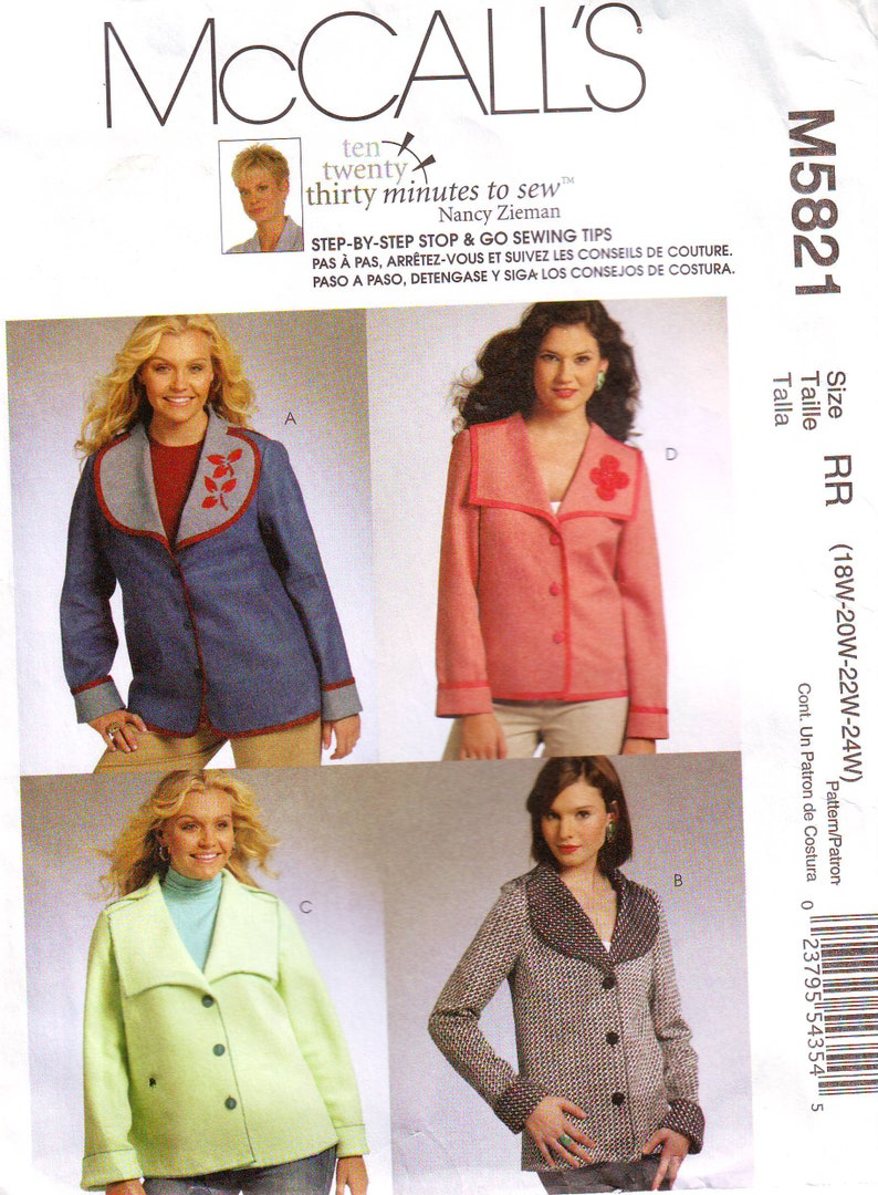 McCall's Pattern M5821  Women's Loose Fitting and image 0