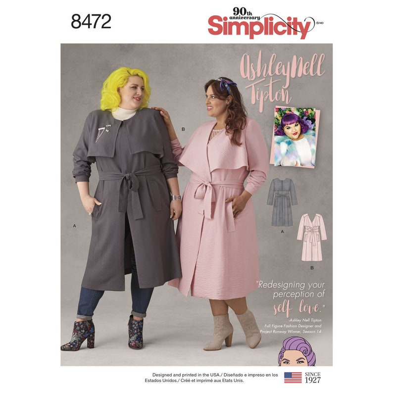 Simplicity Pattern 8472/DO753  Ashley Nell Tipton Trench Coat image 0